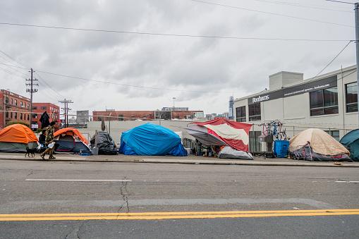 San Francisco Obdachlose Camps Stockfoto und mehr Bilder von Armut