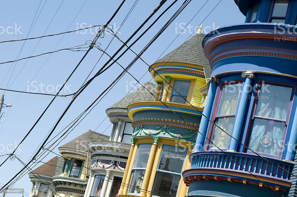 San Francisco Houses royalty-free stock photo
