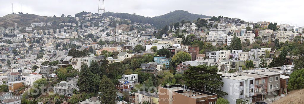 San Francisco houses 免版稅 stock photo