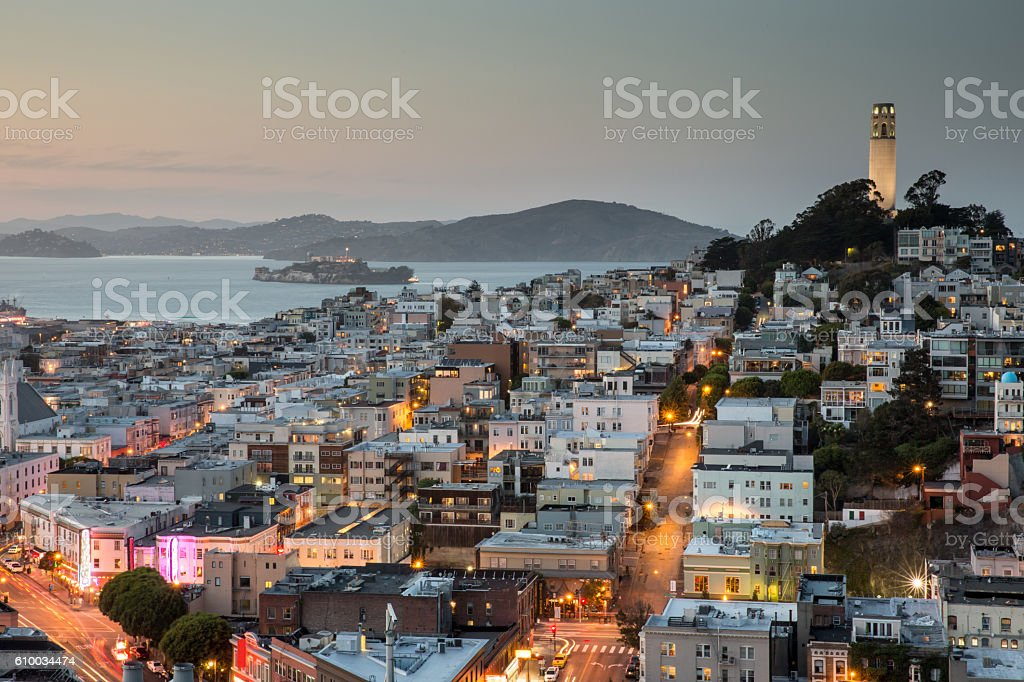 San Francisco in Blue and Gold stock photo