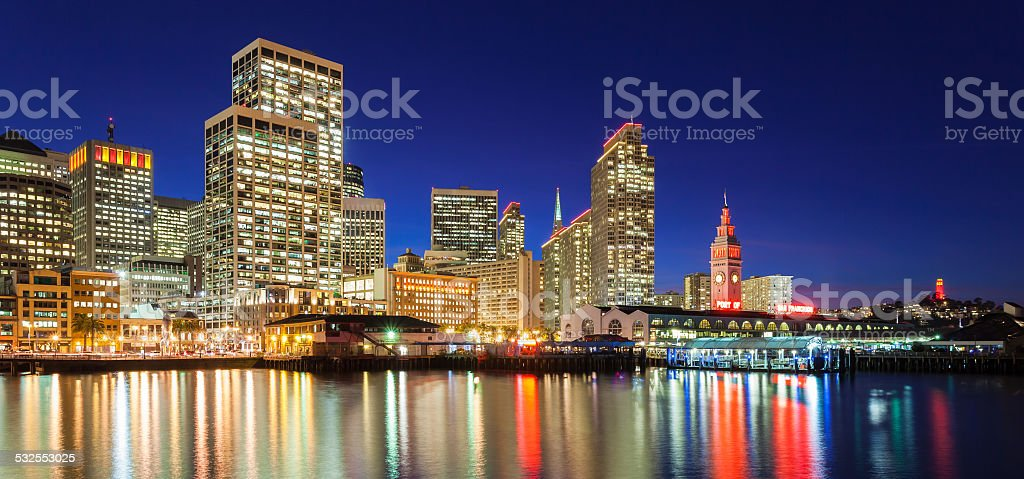 San Francisco in Red and Gold stock photo