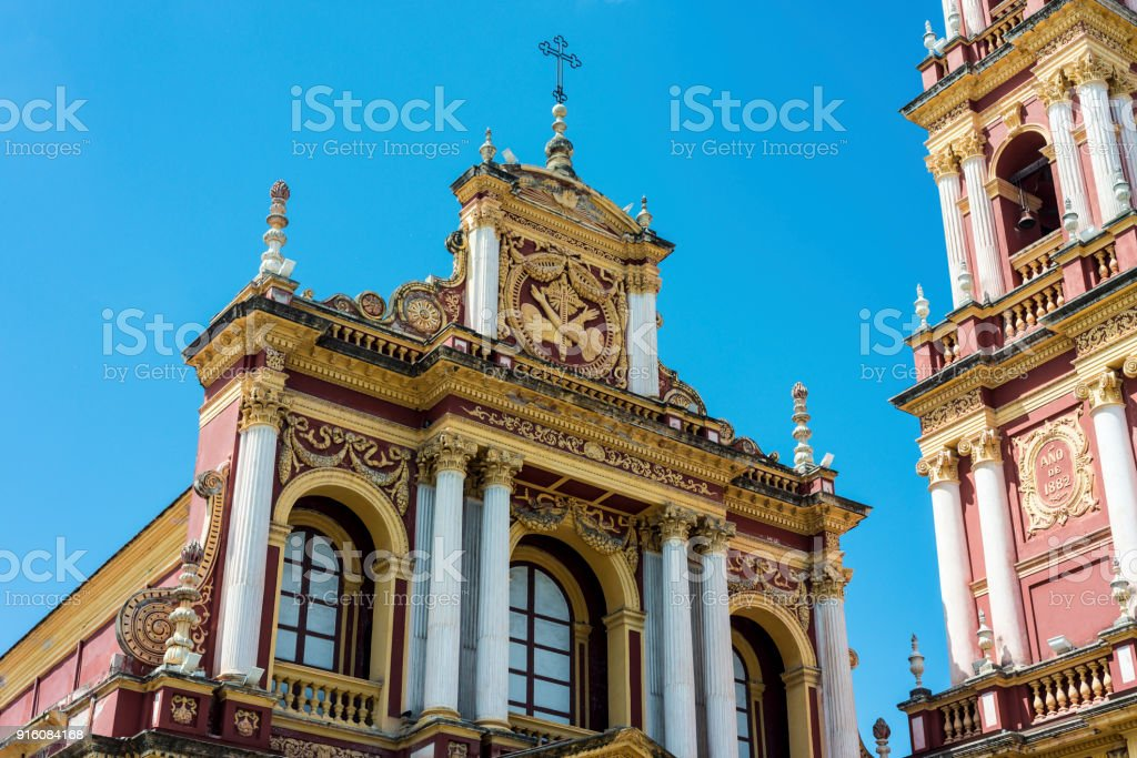 San Francisco in the city of Salta, Argentina stock photo