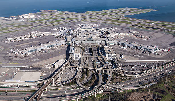 sfo - san francisco international airport - dally stock pictures, royalty-free photos & images