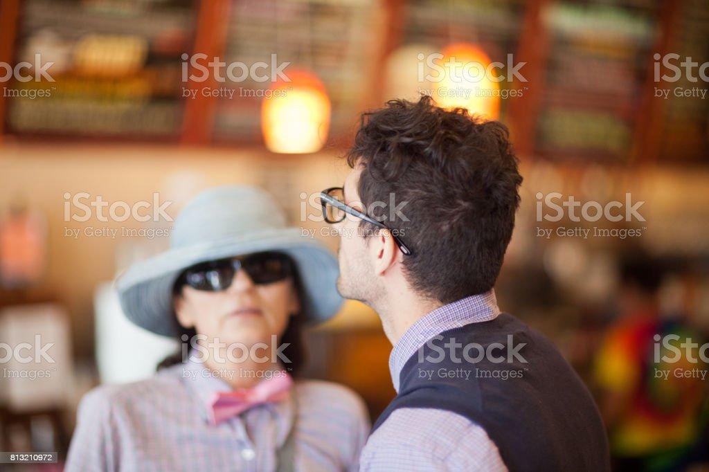 San Francisco Life: in the restaurant stock photo