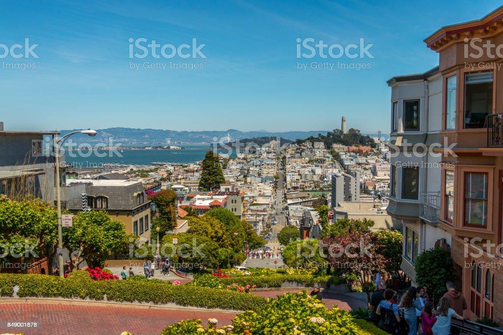 San Francisco Lombard St stock photo