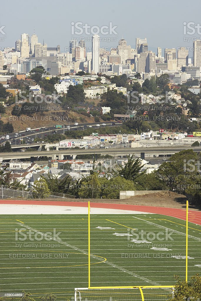 San Francisco Mission Bernal Heights Chavez royalty-free stock photo