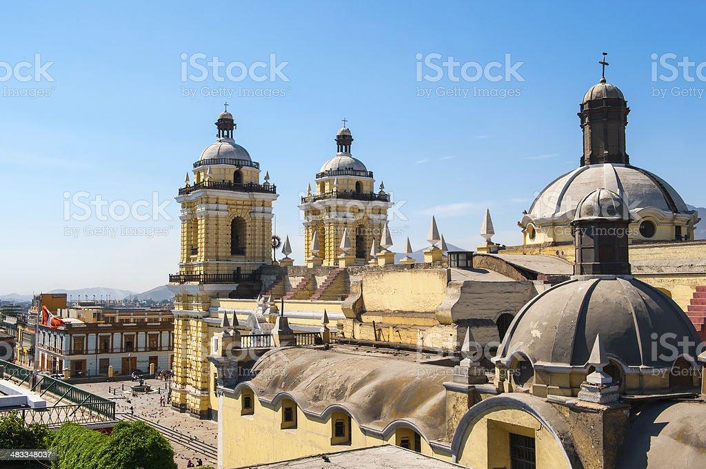 San Francisco monastery, central Lima, Peru stock photo