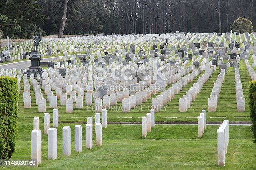 San Francisco National Cemetery in California. The memorial area is administered by the US Department of Veterans Affairs.