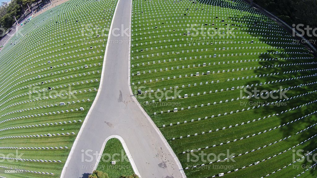 San Francisco National Cemetery stock photo