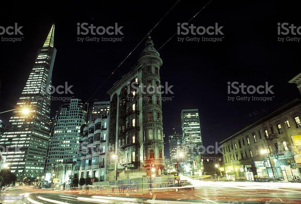 San Francisco - night scene royalty-free stock photo