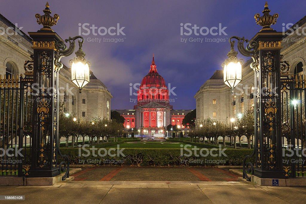 샌프란시시코 밤 royalty-free 스톡 사진