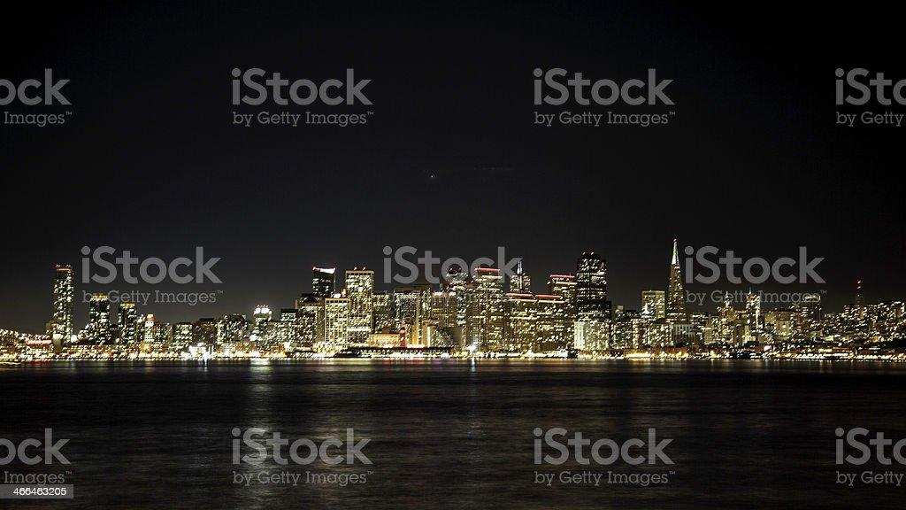 San Francisco Night skyline stock photo