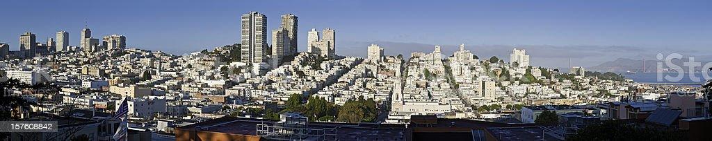 San Francisco North Beach Pacific Heights panorama royalty-free stock photo