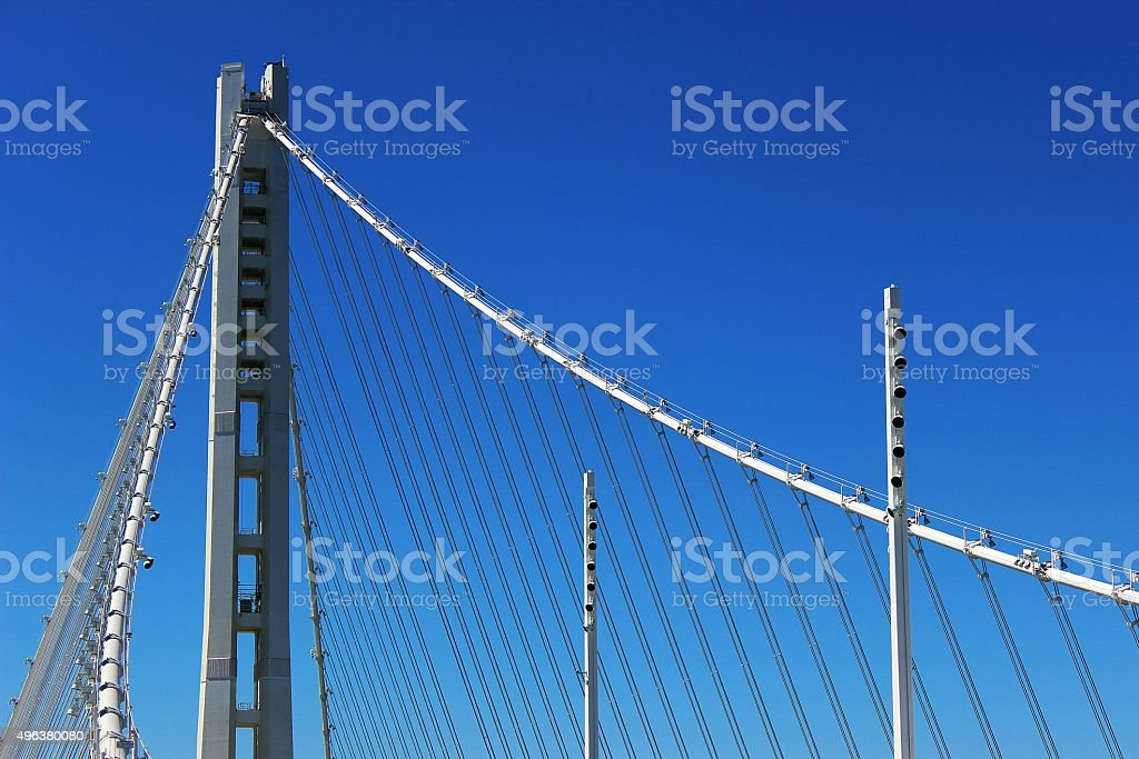 San Francisco Oakland Bay Bridge New Tower stock photo
