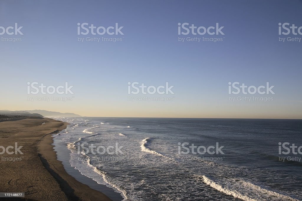 San Francisco: Ocean Beach Sunrise royalty-free stock photo