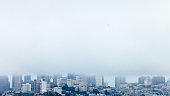 Misty weather in San Francisco, California, USA