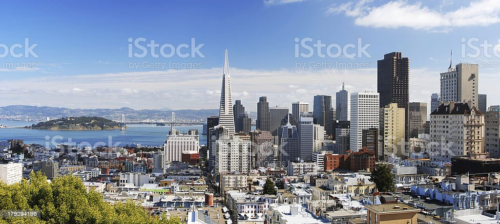 San Francisco Panorama 3 stock photo