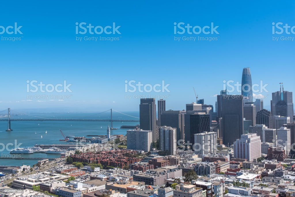 San Francisco, panorama stock photo