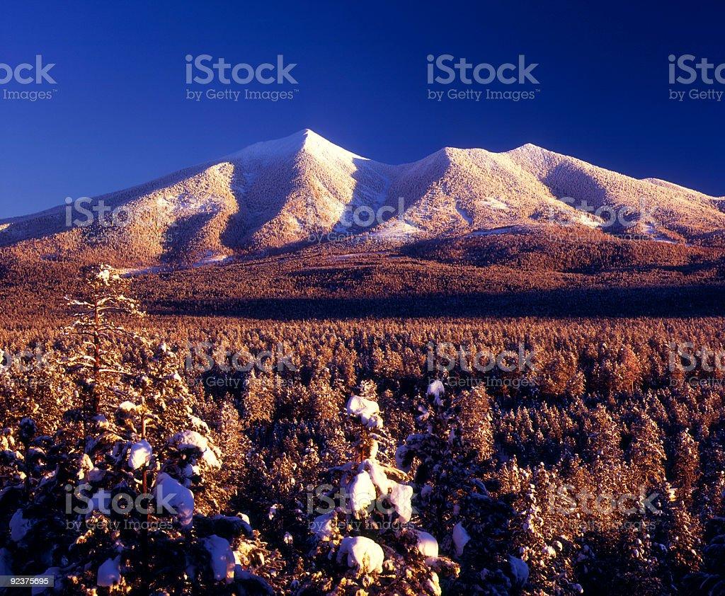 San Francisco Peaks in winter, Arizona royalty-free stock photo