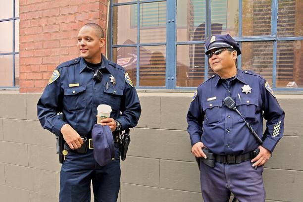 San Francisco Police Officers stock photo