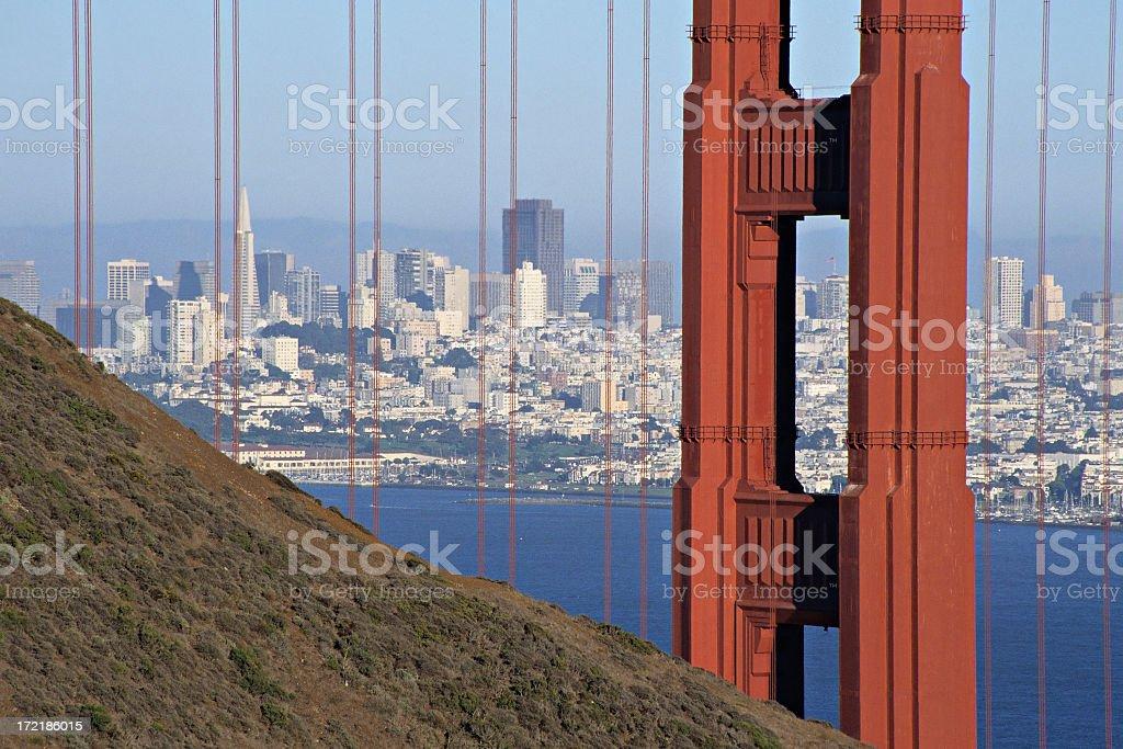 San Francisco postcard royalty-free stock photo