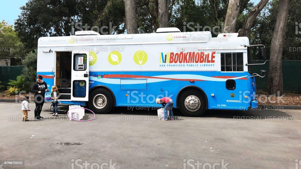 San Francisco Public Library biodiesel bookmobile stock photo