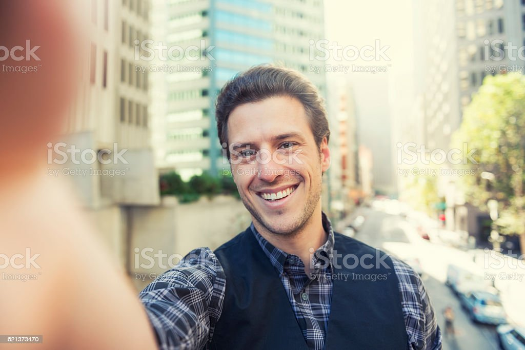 San Francisco selfie POV stock photo