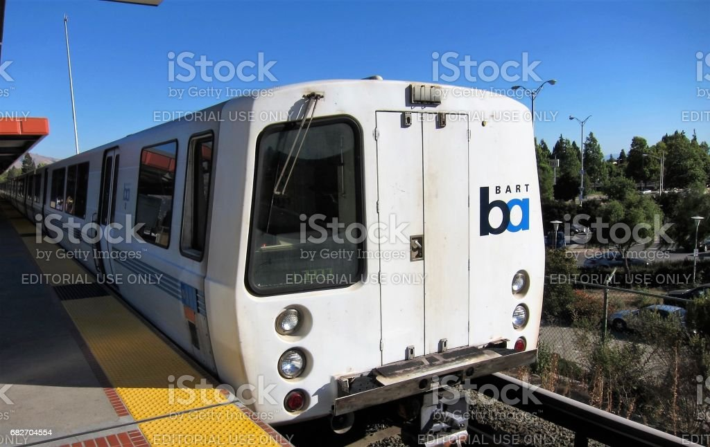 San Francisco - September 3 2010. Bay Area Rapid Transit. A subway train system serving bay area California. stock photo