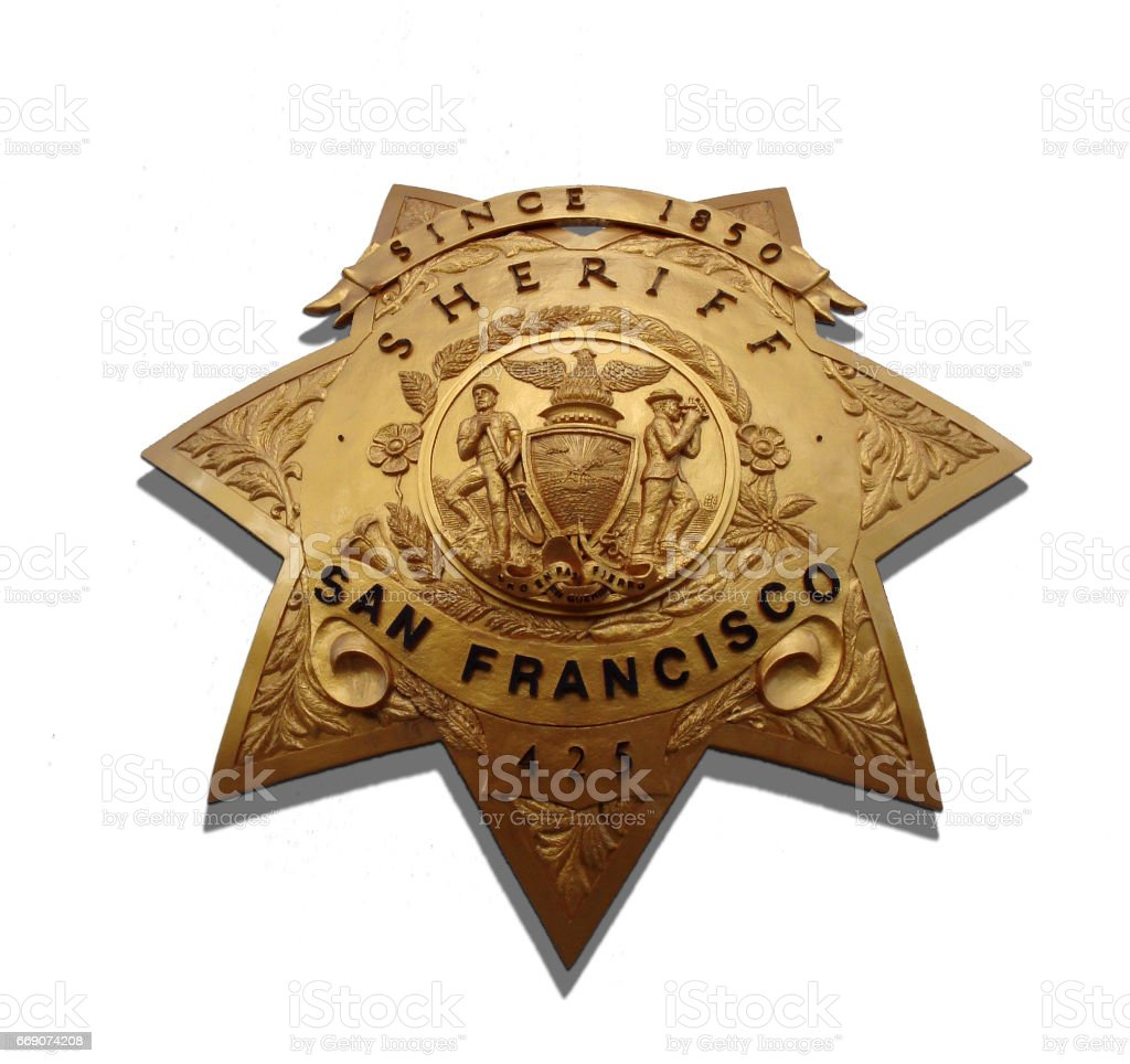 san francisco Sheriff Badge stock photo