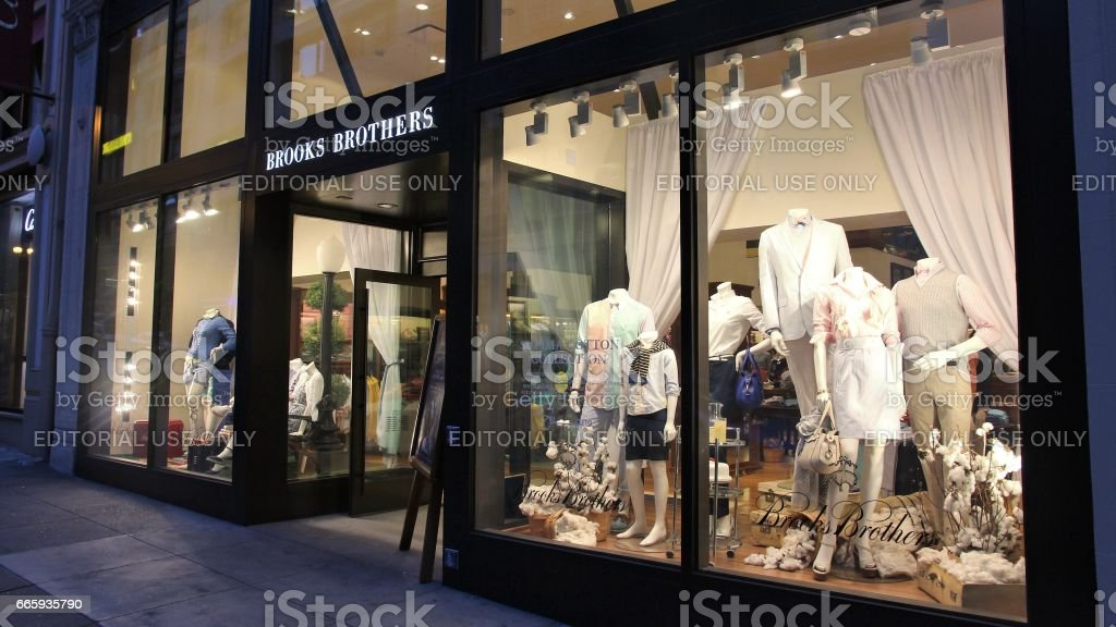 San Francisco shopping stock photo