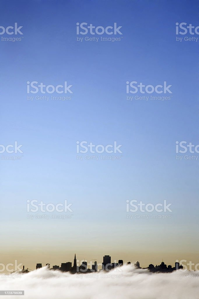 San Francisco Silhouette-Vertical royalty-free stock photo