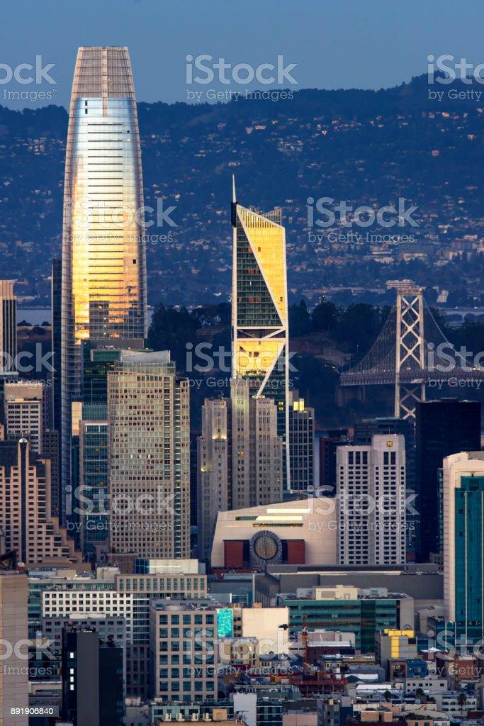 San Francisco Skyline Luftbild – Foto