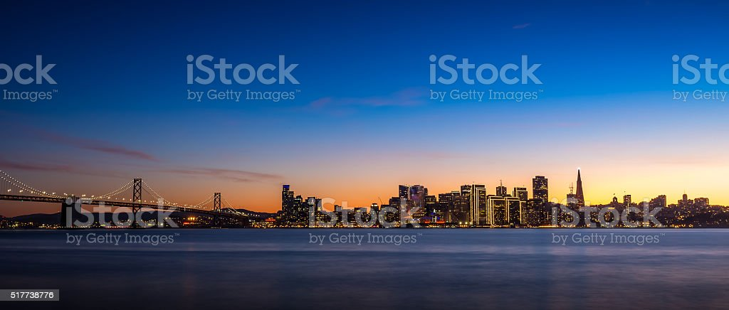 San Francisco Skyline at Dusk stock photo