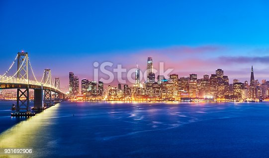 istock San Francisco Skyline at Sunset, California, USA 931692906