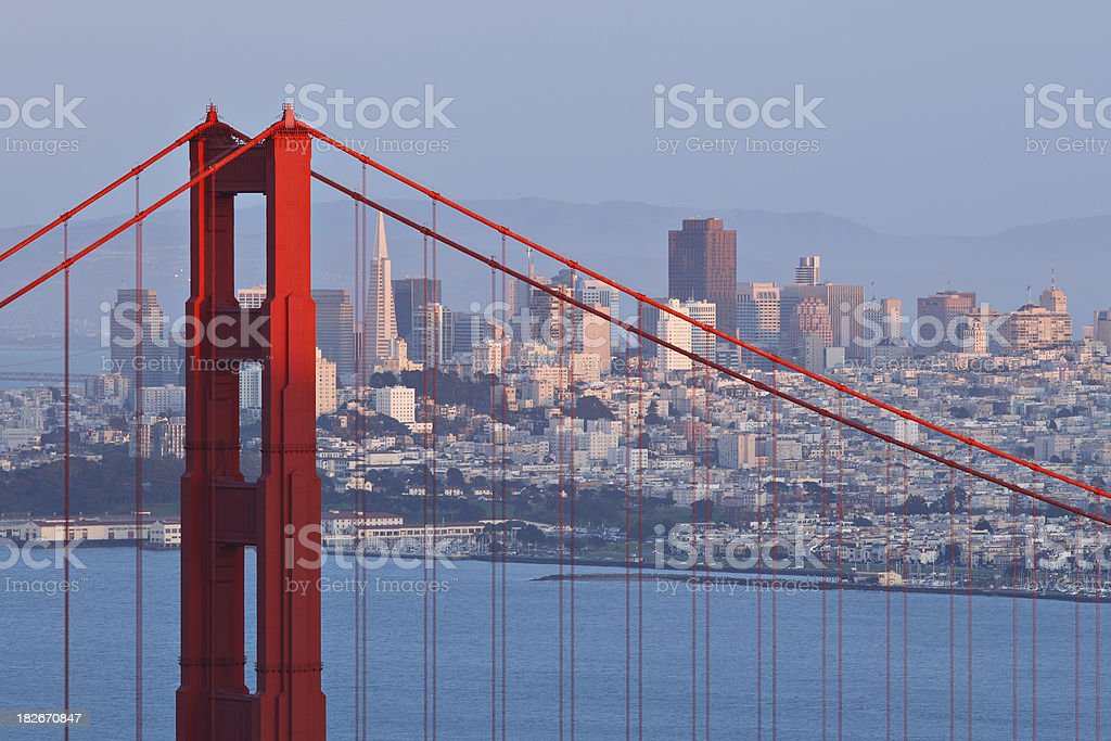 San Francisco Skyline at Sunset royalty-free stock photo