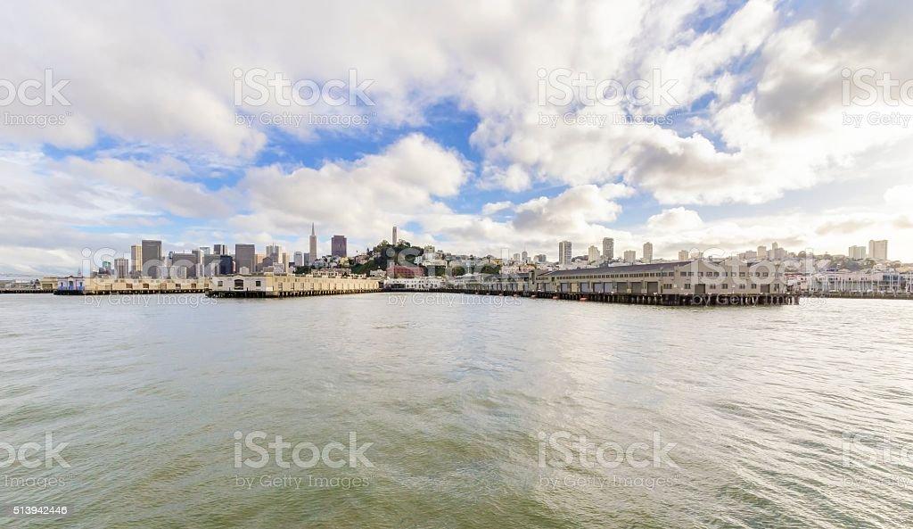 San Francisco skyline, California stock photo