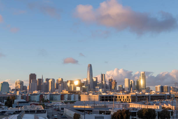 San Francisco Skyline during sunset stock photo