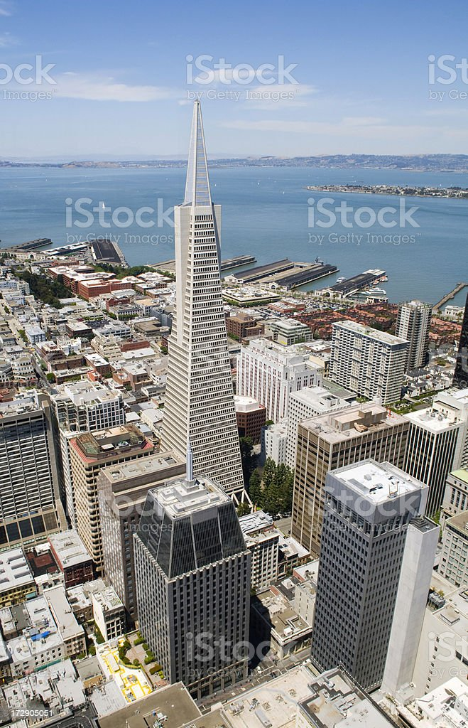 San Francisco Skyline From Above stock photo