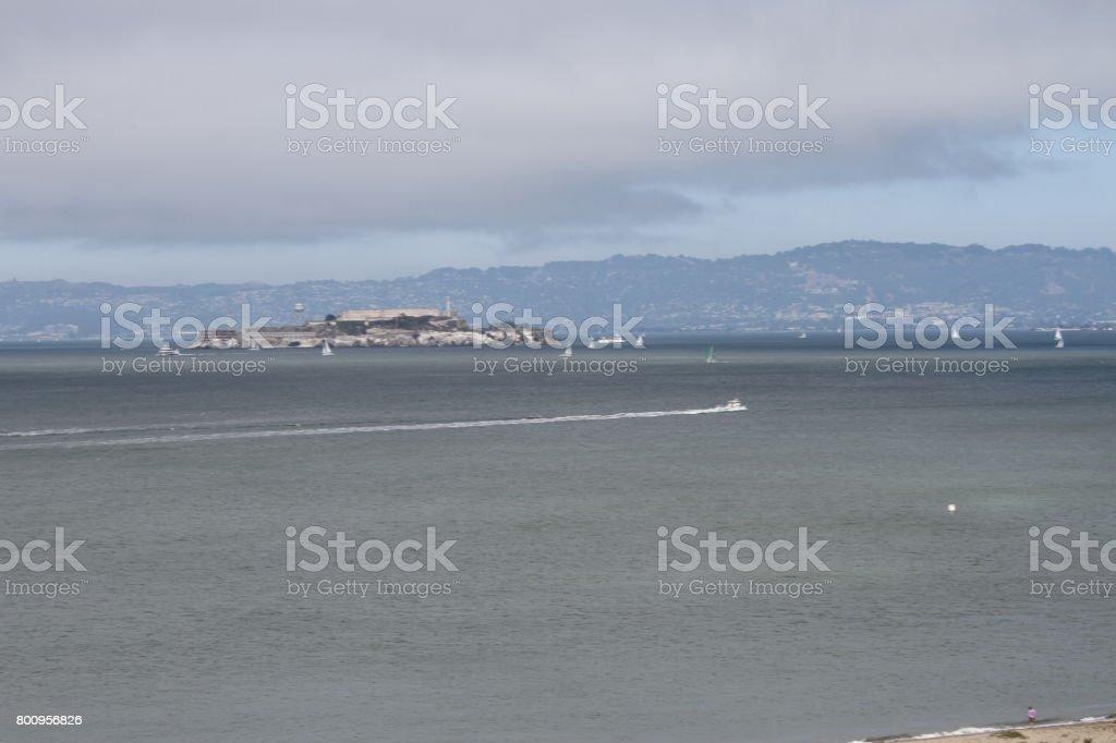 San francisco skyline, from chrissy field stock photo
