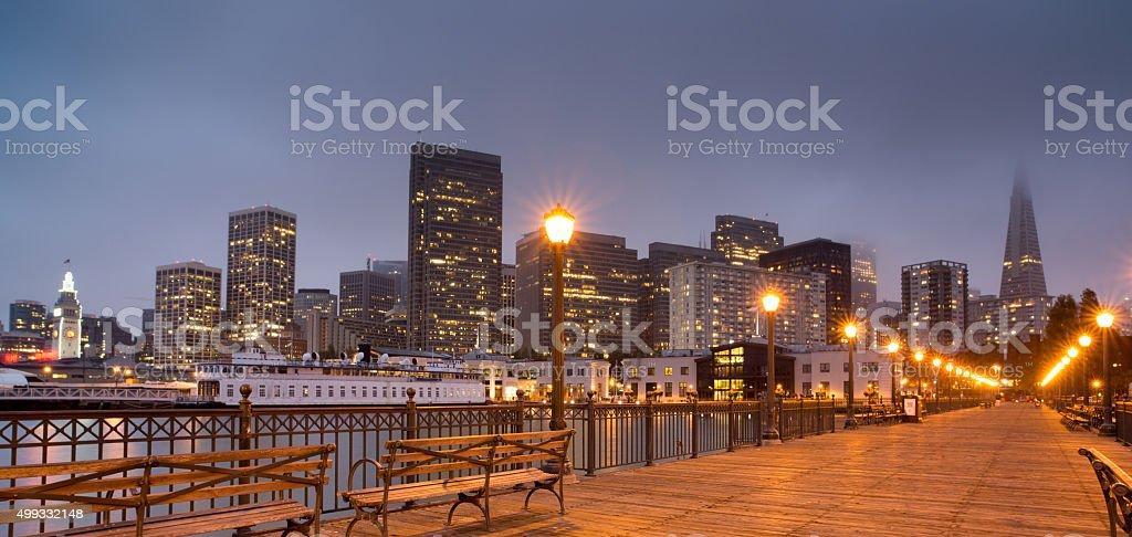 San Francisco Skyline from Pier 7 stock photo