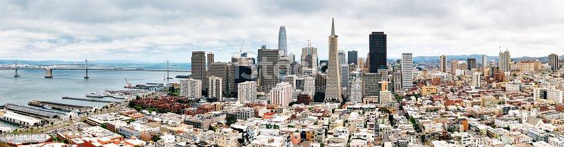 Panoramic view of San Francisco Skyline