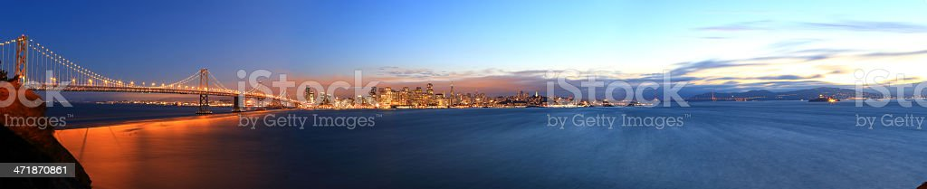 San Francisco: Skyline Super Panorama stock photo