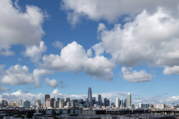 San Francisco Skyline with clouds during daytime stock photo