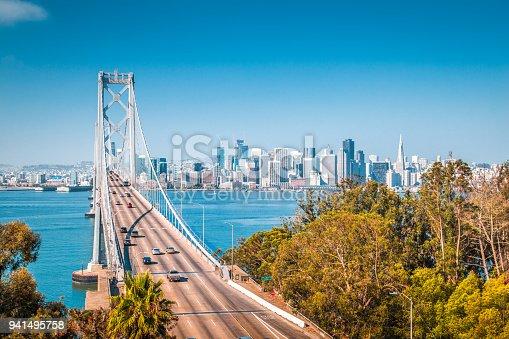 istock San Francisco skyline with Oakland Bay Bridge, California, USA 941495758