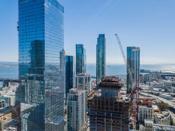 San Francisco Skyscrapers in the Financial Sistrict stock photo