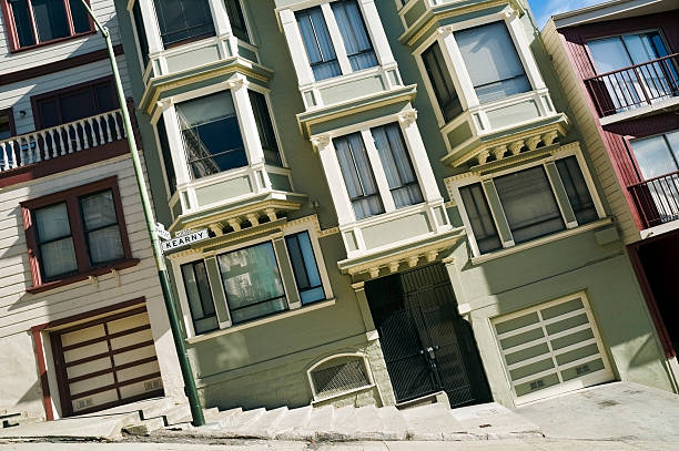 San Francisco steep street Steep street in San Francisco. steep stock pictures, royalty-free photos & images