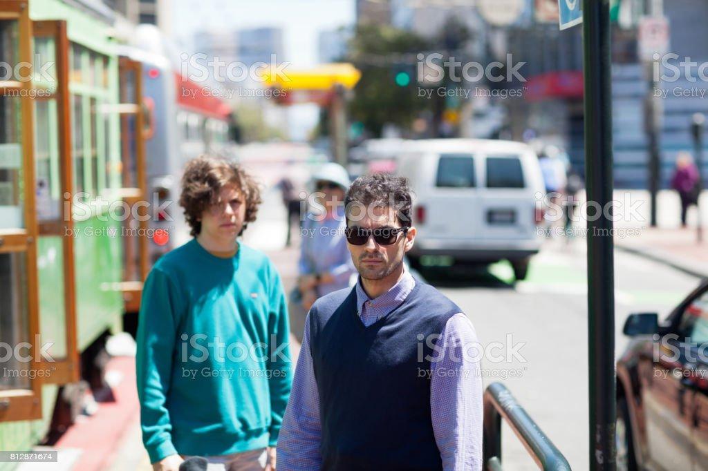San Francisco Street Life cable car stock photo