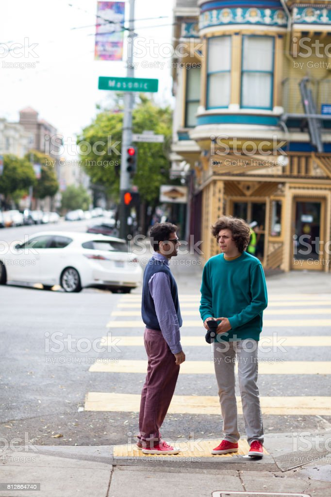 San Francisco Street Life chat stock photo