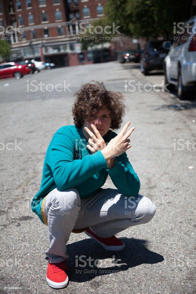 San Francisco Street Life: peace stock photo