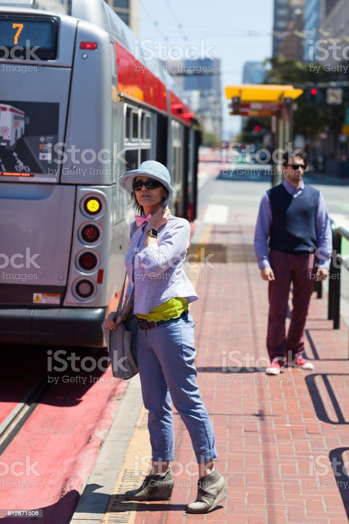 San Francisco Street Life public transportation stock photo